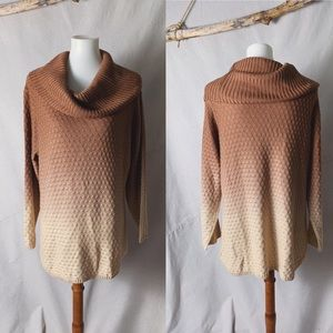 REBA Ombré Turtleneck Sweater Copper